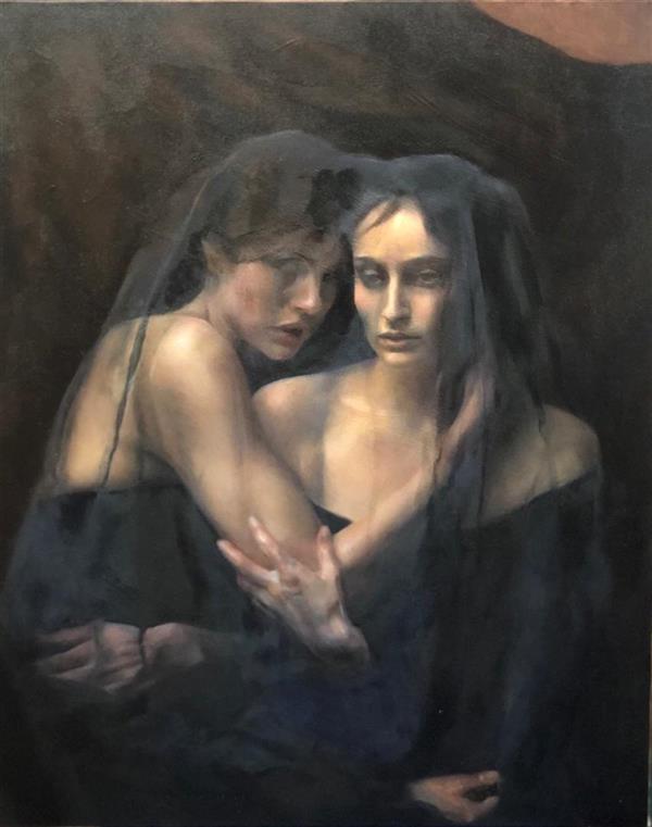 هنر نقاشی و گرافیک محفل نقاشی و گرافیک مریم احمدی رنگ روغن؛ 1399؛ bipolar