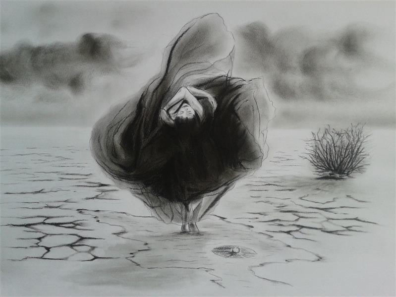 هنر نقاشی و گرافیک محفل نقاشی و گرافیک مصیب پیرنسری #طراحی مفهومی با زغال  نام اثر: #زنانه در سرزمینم از: مصیب پیرنسری تاریخ خلق: 1399 ابعاد اثر (حدوداً):54در35