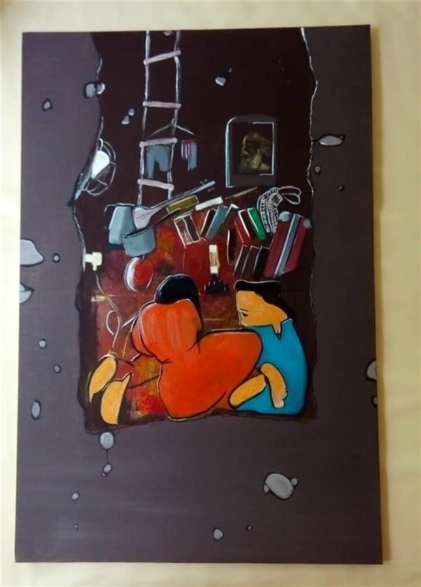 هنر نقاشی و گرافیک محفل نقاشی و گرافیک حمید رضا عینی  نقاشی ---نام هنرمند: حمید رضا عینی ----نام اثر: خانه پلاک منهای یک ----سال خلق اثر :1399-----متریال : اکرولیک روی بوم ---