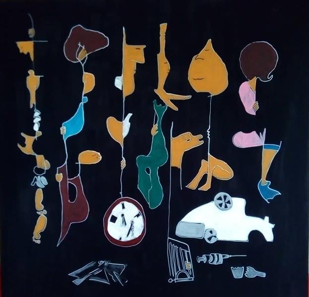 هنر نقاشی و گرافیک محفل نقاشی و گرافیک حمید رضا عینی نقاشی---نام هنرمند : حمید رضا عینی ----نام اثر: حضار سال خلق:1399---متریال : اکرولیک روی بوم