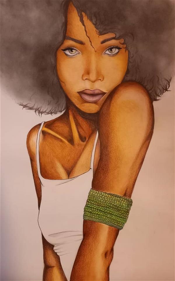 هنر نقاشی و گرافیک محفل نقاشی و گرافیک فاطمه خانجان #دختر_خمار #1399#feeltheorchids