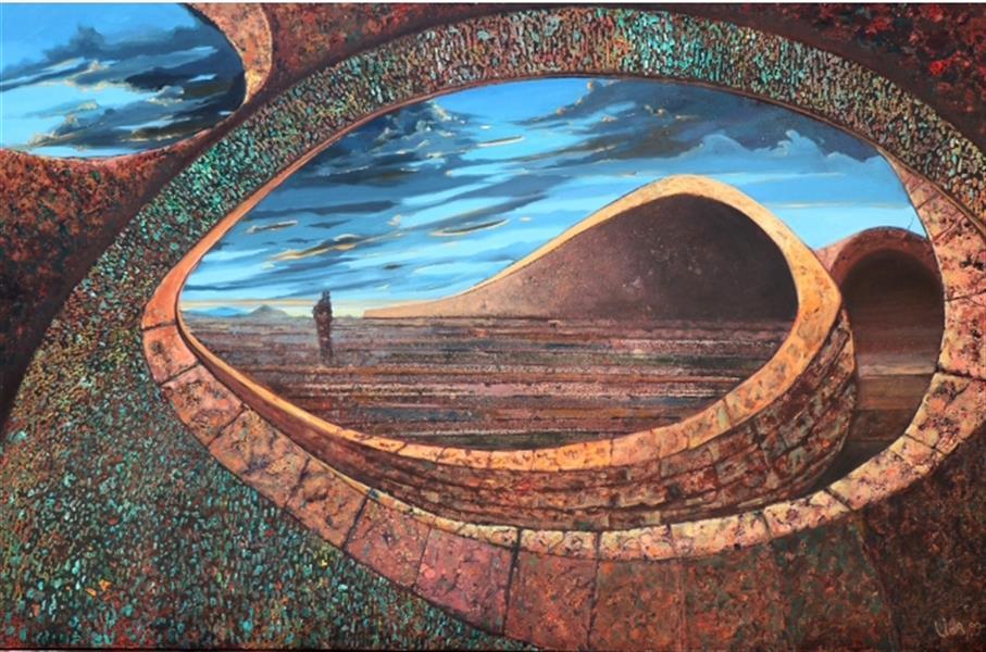 هنر نقاشی و گرافیک محفل نقاشی و گرافیک لیداپولکی ترکیب مواد سال خلق اثر،۹۹          نام اثر،سفربه دیگرسو نام هنرمند،لیداپولکی