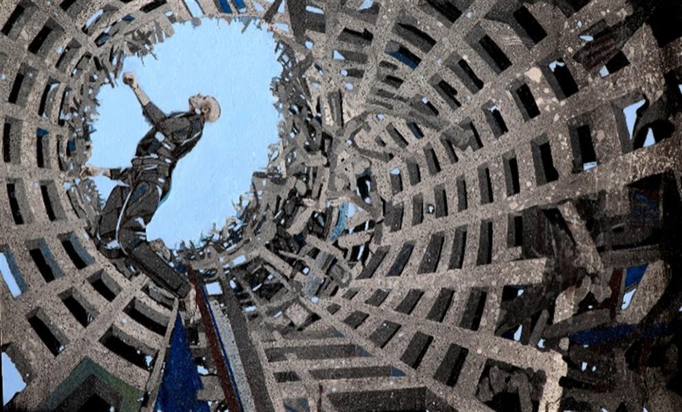 هنر نقاشی و گرافیک محفل نقاشی و گرافیک لیداپولکی ترکیب مواد ۹۸نام اثر،سفربه دیگرسو۱ نام هنرمند،لیداپولکی