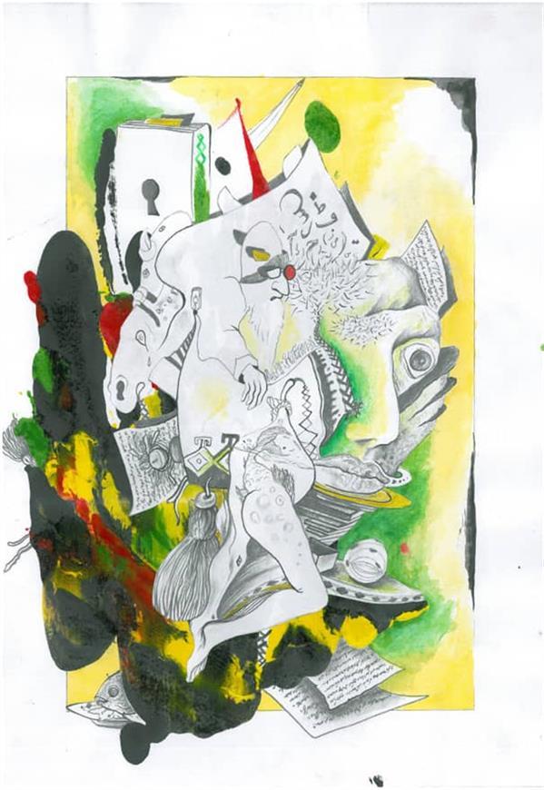 هنر نقاشی و گرافیک محفل نقاشی و گرافیک Milad mashayekhi نقاشی_نام هنرمند:میلاد مشایخی_نام اثر:در ورای این و آن_سال خلق اثر:1395_متریال:ترکیب مواد