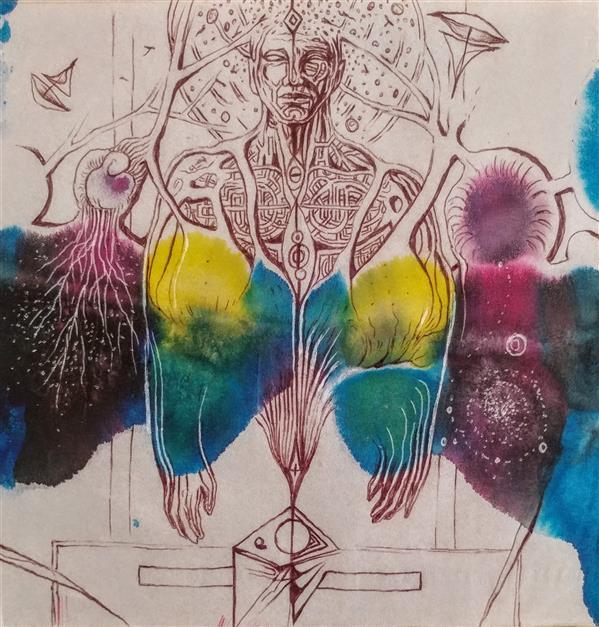 هنر نقاشی و گرافیک محفل نقاشی و گرافیک Milad mashayekhi  هنرمند :میلاد مشایخی _نام اثر :حشتن _از مجموعه « دستهای کاغذی »_دستمال کاغذی ،ترکیب مواد ۹۹