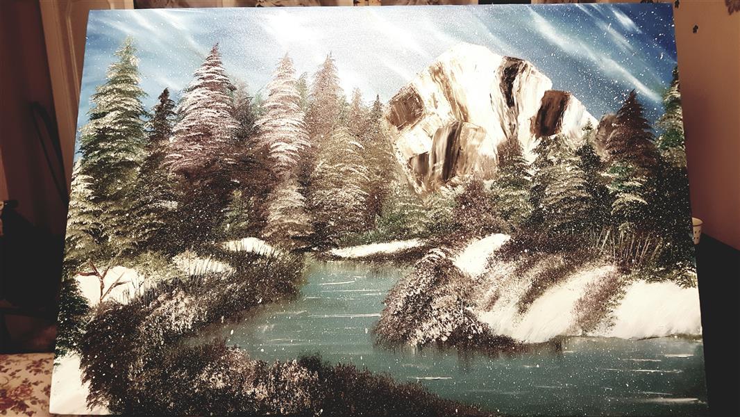 هنر نقاشی و گرافیک محفل نقاشی و گرافیک Farahnaz sharif تابلو جنگل دونه برفی تکنیک رنگ روغن سال اثر ۱۳۹۷