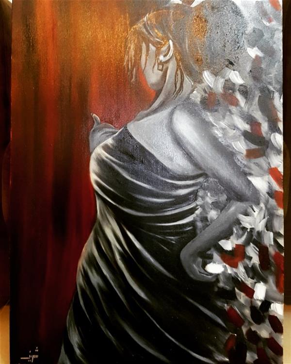 هنر نقاشی و گرافیک محفل نقاشی و گرافیک Farahnaz sharif بانوی اسپانیش  تکنیک رنگ روغن سال اثر ۱۳۹۷