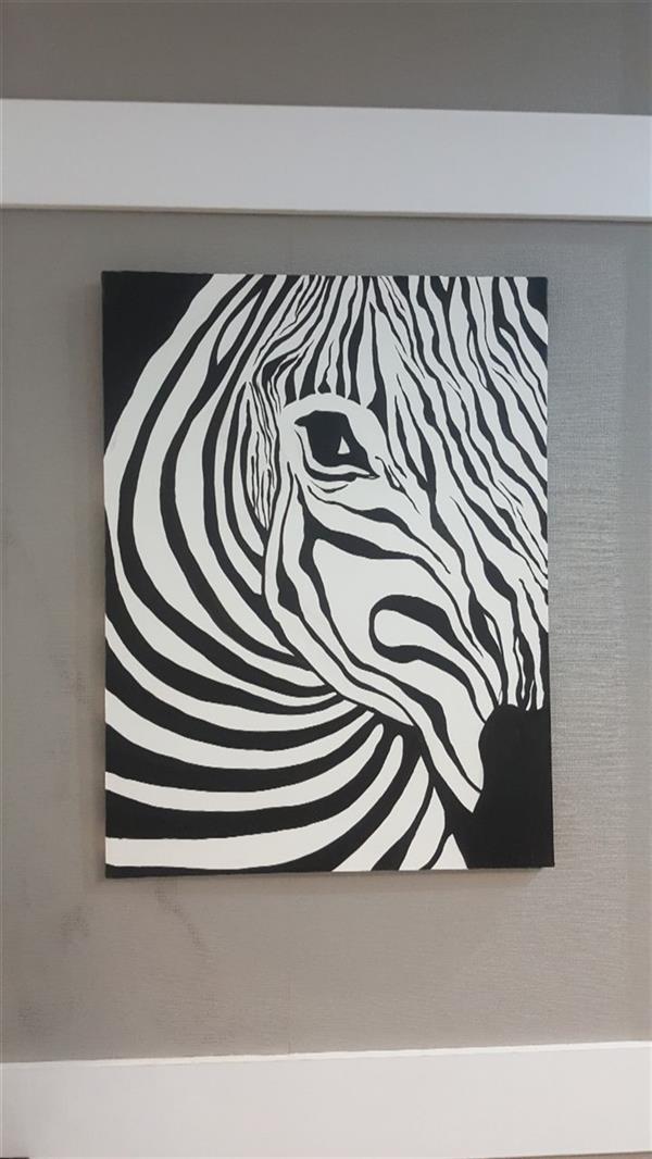 هنر نقاشی و گرافیک محفل نقاشی و گرافیک Farahnaz sharif زبرا مدرن فانتزی تکنیک رنگ روغن