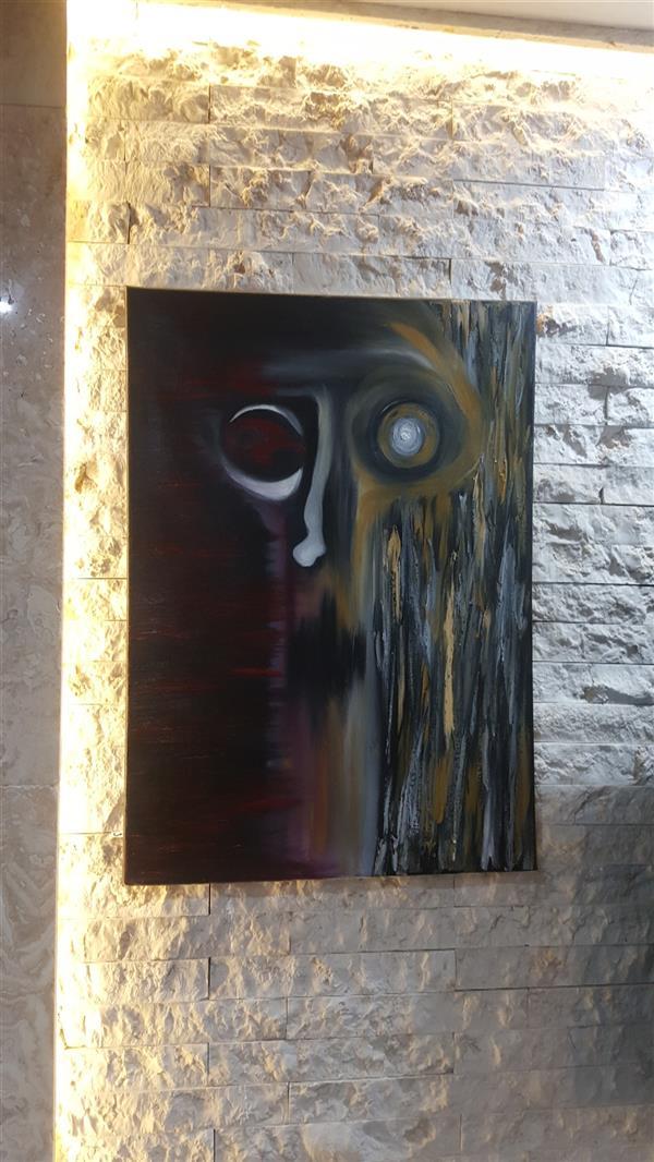 هنر نقاشی و گرافیک محفل نقاشی و گرافیک Farahnaz sharif توهم و زندانی تکنیک رنگ روغن