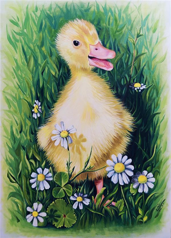 هنر نقاشی و گرافیک محفل نقاشی و گرافیک شیدا سیفی #طبیعت #حیوانات  رنگ روغن روی بوم، رئالیسم ۱۳۹۹