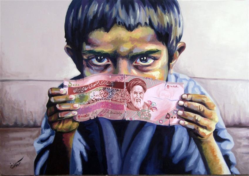 هنر نقاشی و گرافیک محفل نقاشی و گرافیک شیدا سیفی رنگ روغن روی بوم اثر اورجینال