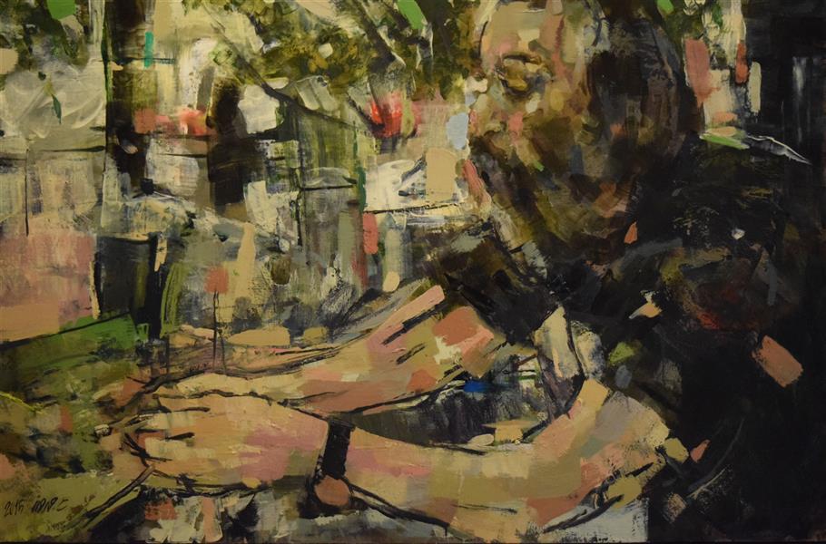 هنر نقاشی و گرافیک محفل نقاشی و گرافیک عاطفه مهرورز رنگ روغن  بدون عنوان 2015 عاطفه مهرورز