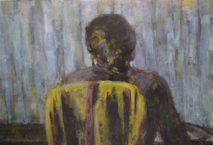 هنر نقاشی و گرافیک محفل نقاشی و گرافیک عاطفه مهرورز رنگ روغن بدون عنوان 2018 عاطفه مهرورز