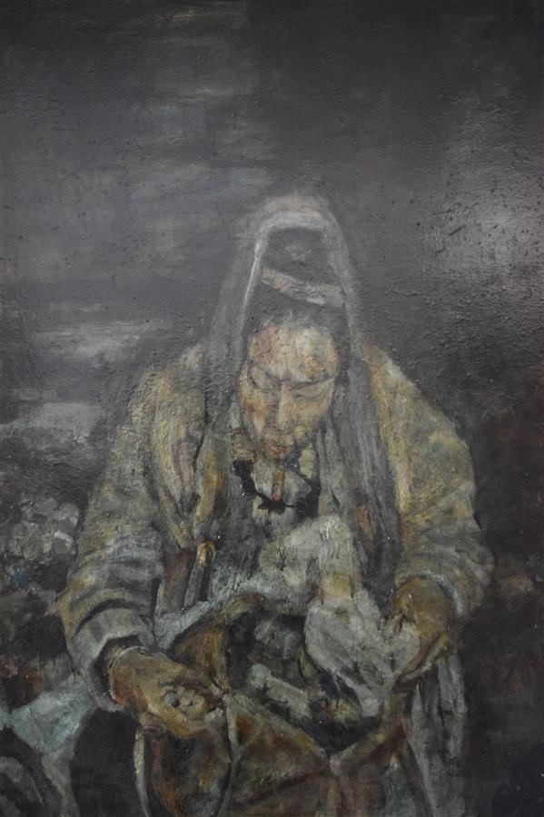 هنر نقاشی و گرافیک محفل نقاشی و گرافیک عاطفه مهرورز رنگ روغن بدون عنوان 2017 عاطفه مهرورز