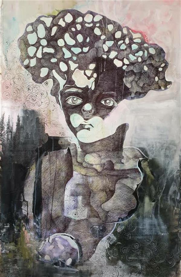 هنر نقاشی و گرافیک محفل نقاشی و گرافیک مریم کریمی اکرولیک 1399 بدون عنوان  مریم کریمی