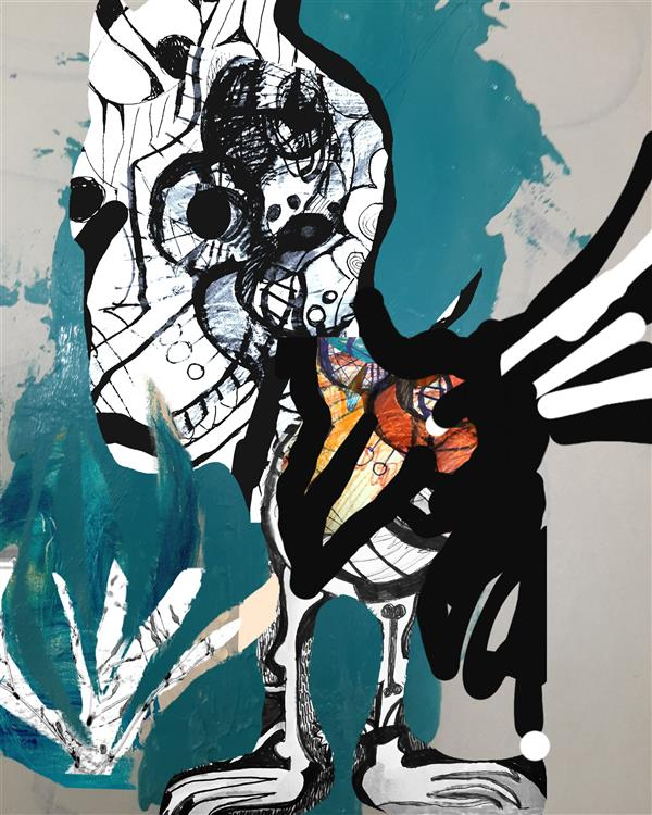 هنر نقاشی و گرافیک محفل نقاشی و گرافیک اسیه ابراهیمی کاغذ وابرنگ