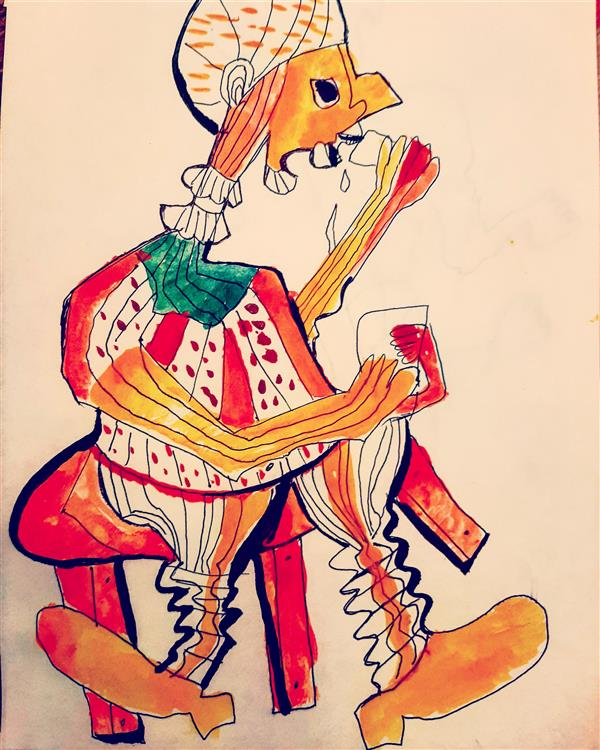 هنر نقاشی و گرافیک محفل نقاشی و گرافیک اسیه ابراهیمی کاغذوابرنگ