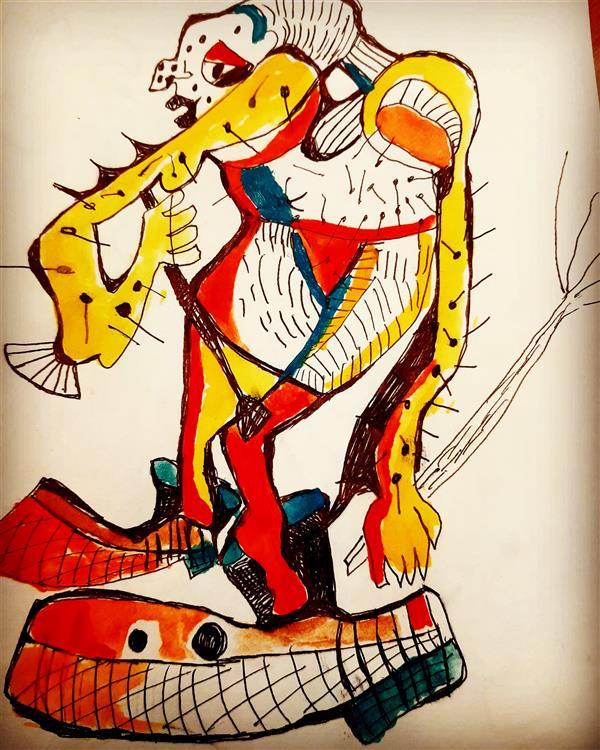 هنر نقاشی و گرافیک محفل نقاشی و گرافیک اسیه ابراهیمی کاغذ و ابرنگ