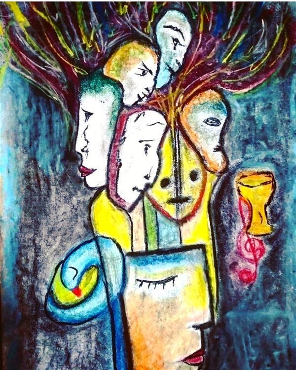 هنر نقاشی و گرافیک محفل نقاشی و گرافیک کیانا گل پرداز  تکنیک : پاستل گچی نام اثر : پرنده آبی نام هنرمند : کیانا گل پرداز سال خلق اثر : 1398 #نقاشی #مدرن_نقاشی #پاستل گچی