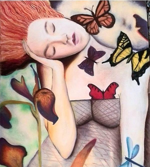 هنر نقاشی و گرافیک محفل نقاشی و گرافیک کیانا گل پرداز  تکنیک : پاستل گچی نام هنرمند : کیانا گلپرداز