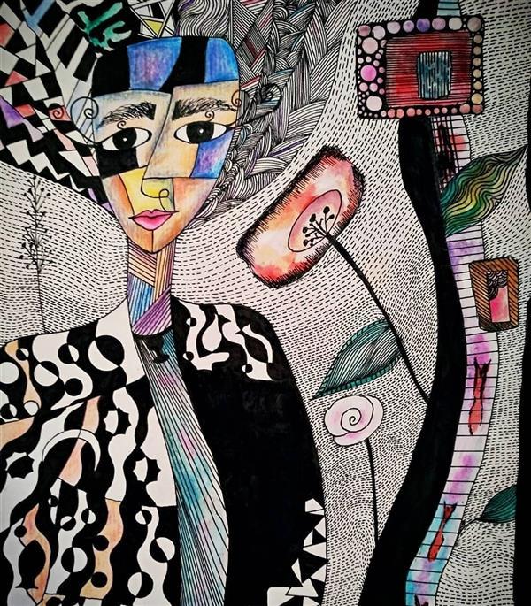 هنر نقاشی و گرافیک محفل نقاشی و گرافیک کیانا گل پرداز  نام اثر: چالش زندگی نام هنرمند : کیانا گلپرداز سال خلق اثر : 1398 تکنیک :راپید و آبرنگ