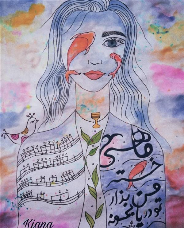 هنر نقاشی و گرافیک محفل نقاشی و گرافیک کیانا گل پرداز  نام اثر : ماهی خسته من نام هنرمند : کیانا گلپرداز سال خلق اثر: 1399