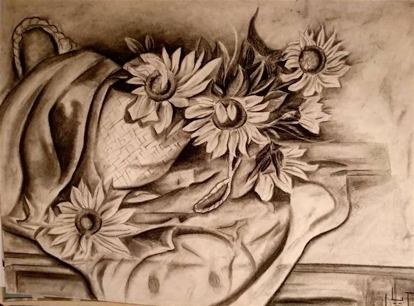 هنر نقاشی و گرافیک محفل نقاشی و گرافیک کیانا گل پرداز  نام اثر : گل آفتابگردان مدیا و متریال : سیاه قلم نام هنرمند : کیانا گل پرداز #نقاشی #سیاه_قلم #سیاه_سفید