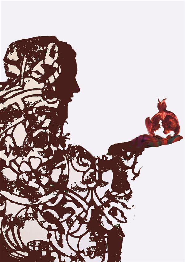 هنر نقاشی و گرافیک محفل نقاشی و گرافیک کیانا گل پرداز  نام اثر: یلدا نام هنرمند : کیانا گل پرداز پوستر منتخب در جشنواره یلدانه سال خلق اثر:1398
