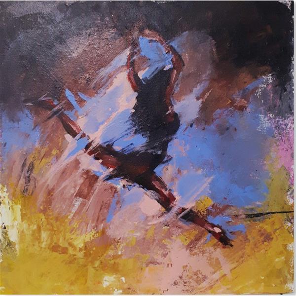 هنر نقاشی و گرافیک محفل نقاشی و گرافیک مرضیه اجاقی #نقاشی #اکرلیک روی بوم سال ۱۳۹۴ با عنوان #بالرین اثر #مرضیه_اجاقی