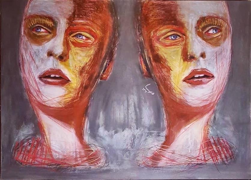 هنر نقاشی و گرافیک محفل نقاشی و گرافیک مهسا تقوی  پاستل آکریلیک رنگ روغن، روی مقوا ، سال خلق ۱۳۹۹ ، مهسا تقوی