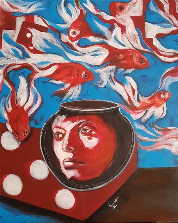 هنر نقاشی و گرافیک محفل نقاشی و گرافیک مهسا تقوی  رنگ روغن آکریلیک روی بوم،۱۴۰۰، #مهساتقوی