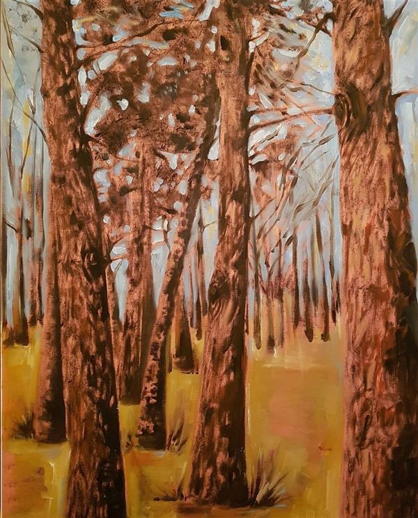 هنر نقاشی و گرافیک محفل نقاشی و گرافیک مهسا تقوی  رنگ روغن پاستل روی مقوا ، ۱۳۹۸، مهسا تقوی
