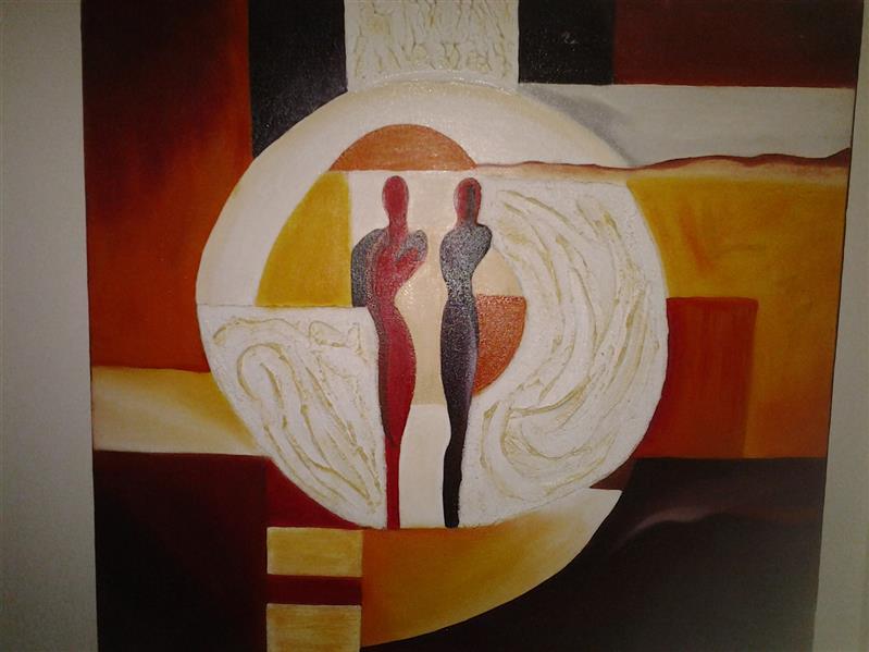 هنر نقاشی و گرافیک محفل نقاشی و گرافیک بهنازاریاپور نقاشی رنگ روغن برجسته سبک مدرن