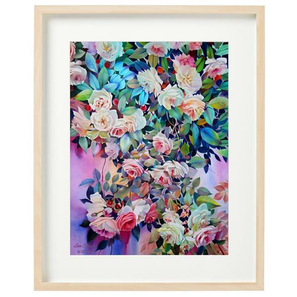 هنر نقاشی و گرافیک محفل نقاشی و گرافیک عطرا اسماعیلی  رنگ روغن، ۱۳۹۹، بهشت، عطرا اسماعیلی