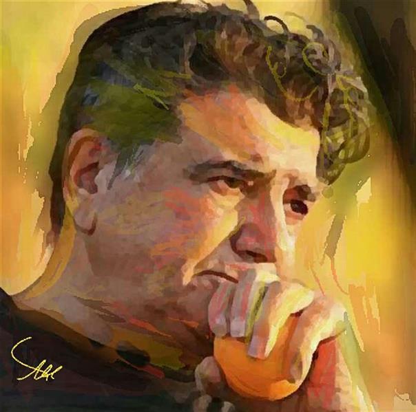 هنر نقاشی و گرافیک محفل نقاشی و گرافیک علی ناوکی عارفی  ابرنگ مداد رنگی وپاستل سال خلق ۹۹اسم اثر استاد شجریان  هنرمند علی ناوکی عارفی