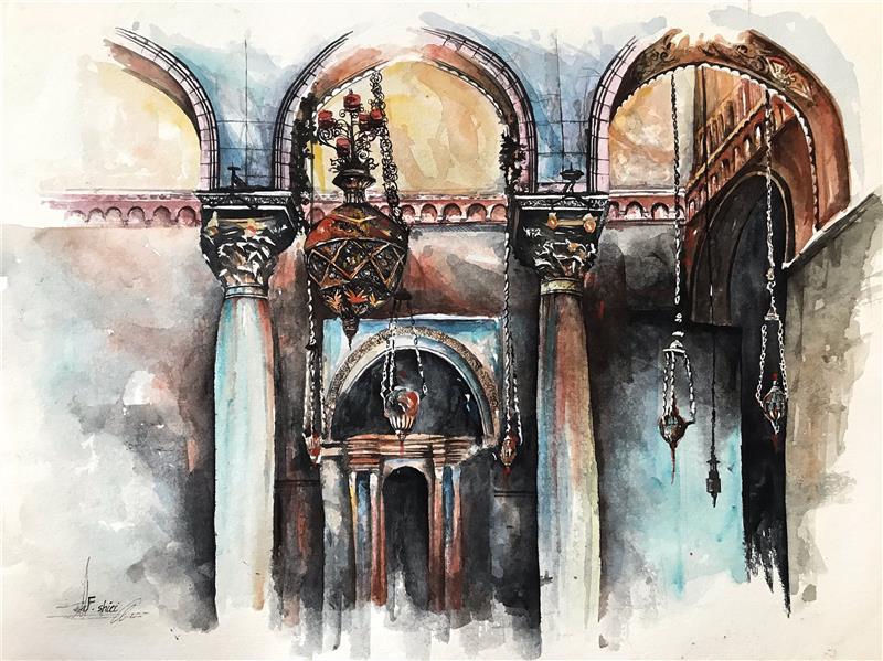 هنر نقاشی و گرافیک محفل نقاشی و گرافیک فرزاد شیری  تکنیک ابرنگ