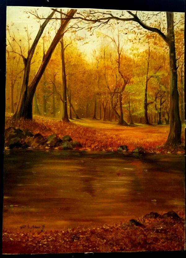 هنر نقاشی و گرافیک محفل نقاشی و گرافیک پونه پاییز جواهرده. رنگ روغن. سال خلق اثر 1385