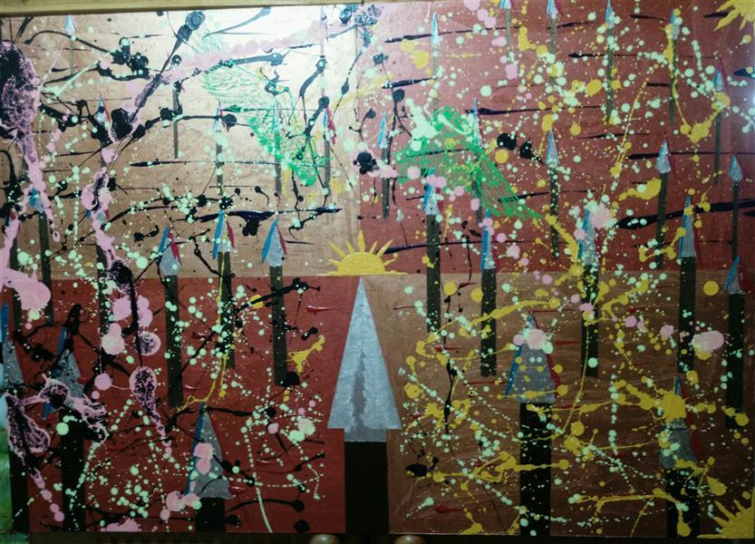 هنر نقاشی و گرافیک محفل نقاشی و گرافیک مجید گوهری #اکریلیک #1399 #خورشیدونیزه ها #مجیدگوهری