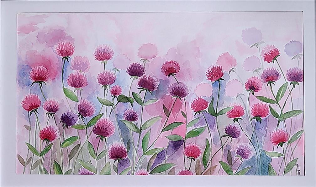 هنر نقاشی و گرافیک محفل نقاشی و گرافیک آرزو نوری-Arezonouri #نقاشی #ابرنگ #روی اشتنباخ #نطرح:گلهای وحشی#آرزو نوری #تابستون ۹۸
