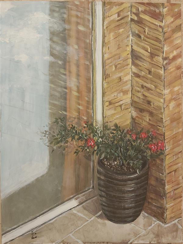 هنر نقاشی و گرافیک محفل نقاشی و گرافیک دکتر مستانه اویسی #نقاشی_روی_بوم#اکریلیک#اورجینال دکتر مستانه اویسی