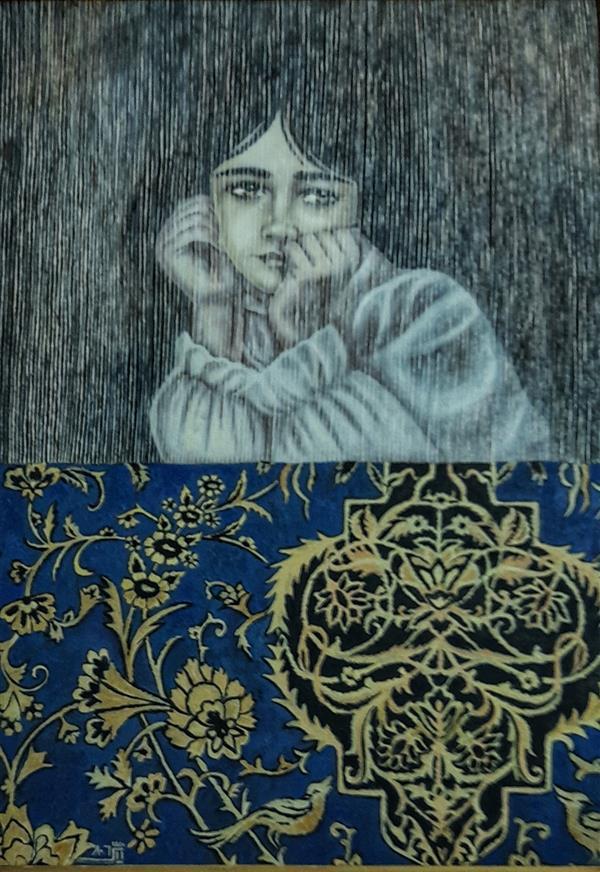 هنر نقاشی و گرافیک محفل نقاشی و گرافیک Zeinabmohamadi تابلو نقاشی تکنیک رنگ روغن  نام اثر:دخترک پشت قالی سال خلق اثر: ۱۳۸۰ نام هنرمند: مریم زرین