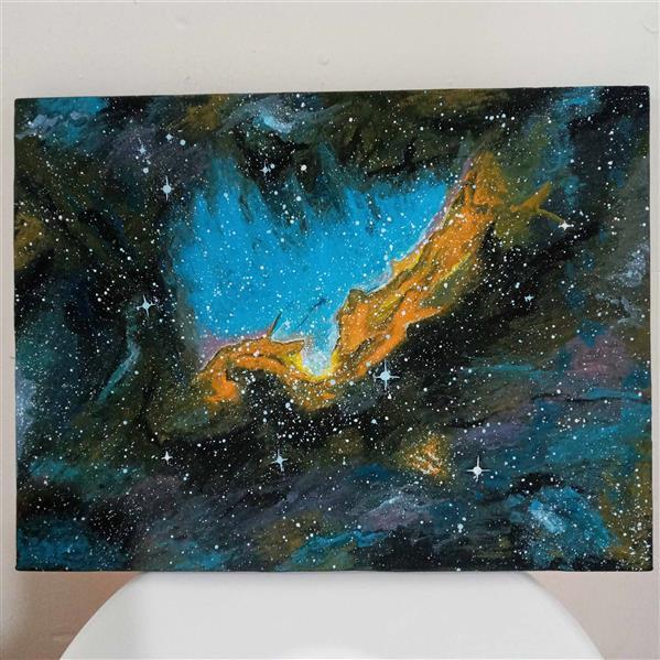 هنر نقاشی و گرافیک محفل نقاشی و گرافیک محسن شوقی محسن شوقی نقاشی کهکشان،روی بوم نقاشی، گواش،1399
