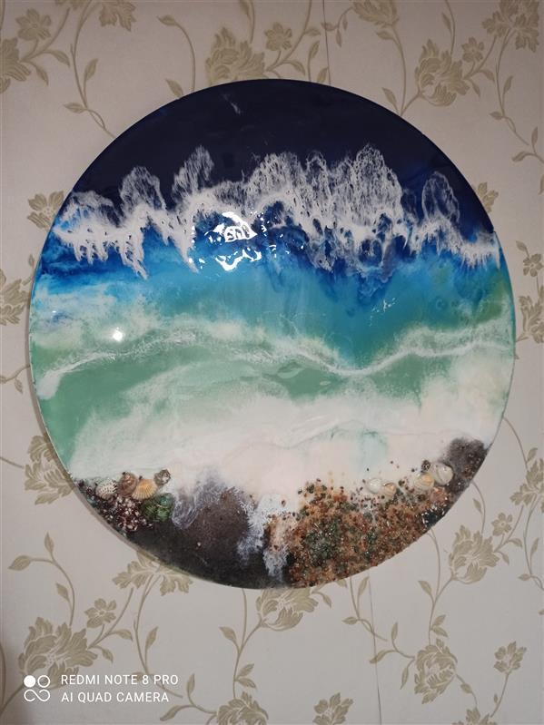 هنر نقاشی و گرافیک محفل نقاشی و گرافیک سمیرا رونقی #تابلو دریا#رزین#سال99#سمیرا رونقی