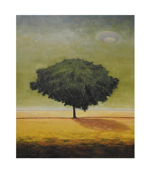 هنر نقاشی و گرافیک محفل نقاشی و گرافیک ستار کریمی تکنیک رنگ روغن  سال خلق ۹۹ نام اثر درخت نام هنر مند ستار کریمی