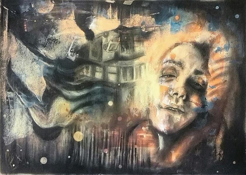 هنر نقاشی و گرافیک محفل نقاشی و گرافیک سمانه آبایی میکس مدیا روی فیبر ۱۳۹۴ سمانه آبایی