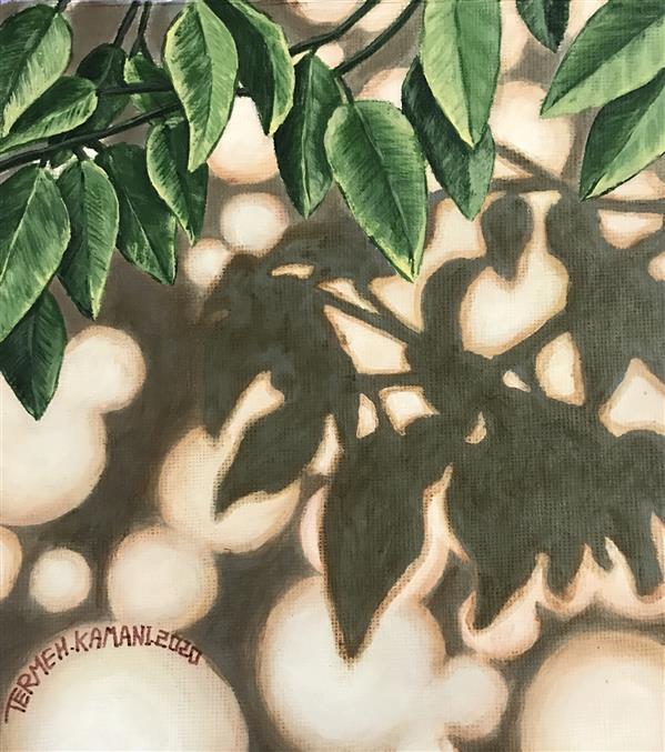 هنر نقاشی و گرافیک محفل نقاشی و گرافیک ترمه کمانی نقاشی-مقوا-اکرولیک-٩٩-سایه ها-ترمه کمانی#اورجینال#طبیعت گرایی#