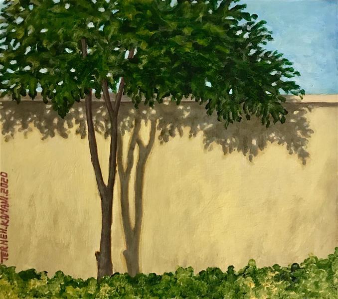 هنر نقاشی و گرافیک محفل نقاشی و گرافیک ترمه کمانی نقاشی-اکرولیک-مقوا-٩٩-سایه ها-ترمه کمانی#اورجینال#طبیعت گرایی#