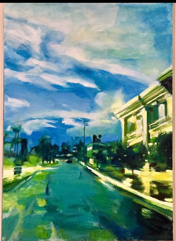هنر نقاشی و گرافیک محفل نقاشی و گرافیک زهرا مومنی #زهرا مومنی  #متریال رنگ روغن خلق اثر۱۳۹۸ #نام اثرخیابانهای شهرم