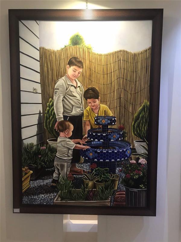 هنر نقاشی و گرافیک محفل نقاشی و گرافیک زهرا سبقت اللهی #ثبت اثار ملی هنرمندان با نام روزگار خوش کودکیاثری از زهرا سبقت اللهی