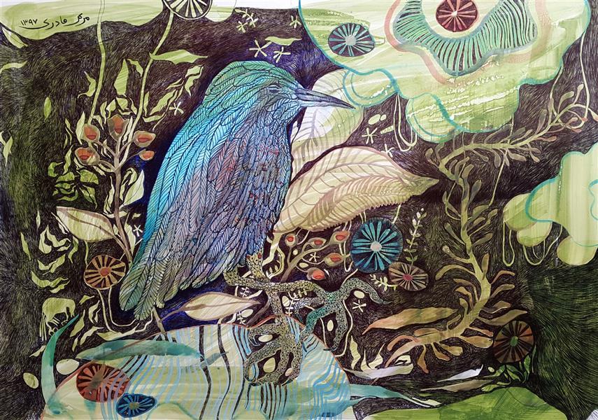 هنر نقاشی و گرافیک محفل نقاشی و گرافیک مریم قادری اکریلیک و خودکار روی مقوا مریم قادری۱۳۹۷ بدون عنوان